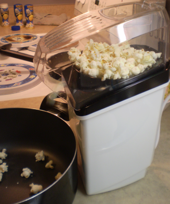 Popcorn maker, ~$20 (CAD).