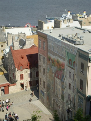 A mural located in old Quebec.