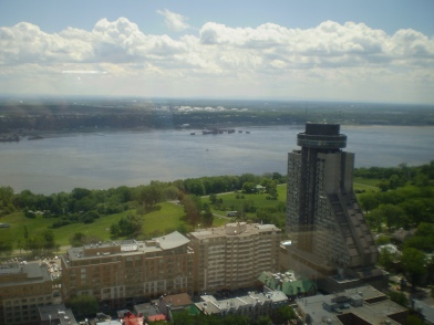 The revolving restaurant is located within Concorde hotel.