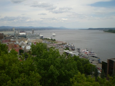 View of the St. Lawrence taken from old Quebec.